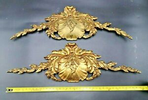 Pair of Massive French Bronze Ormulu Pediments