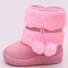 Winter Child Kid Baby Girl Warm Fur Snow Boots Anti-slip Shoes Booties Prewalker