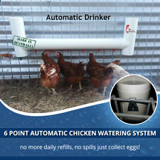 6 Nipples Automatic Water Drinkers for Poultry / Coop Waterer