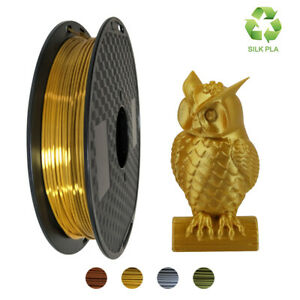 PLA Filament 1.75mm 3D Printer Pens Silk Gold/Silver/Bronze/Copper 0.5Kg Spool