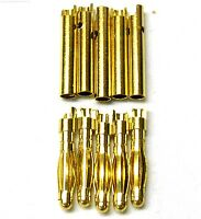 C0205x5 RC Connector 2mm 2.0mm Gold Plated Male and Female Bullet Banana x 5 Set