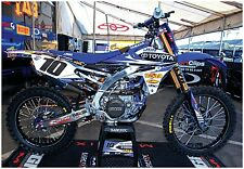 MOTOCROSS POSTER YFZ450 DIRT BIKE HUGE 39x27 YAMAHA motorcycle fmf racing moto-x