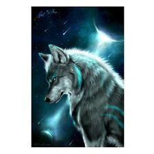Moon Wolf 5D Diamond Embroidery Painting DIY Home Decor Craft Cross Stitch