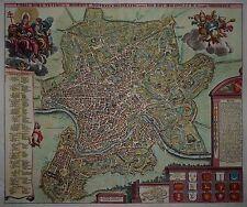 Rom - Kupferstich von Homann 1720 - Urbis Romae ... - Plan - Roma, Rome - Map