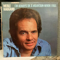 """MERLE HAGGARD - I'm Always On A Mountain When I Fall - 12"""" Vinyl Record LP - VG"""