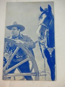 Gene Autrey & Champs Hollywood Movie Star / Actor Arcade/exhibit card