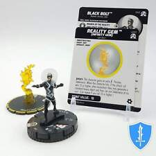 Black Bolt & s001 Reality Gem - 042 Black Panther Illuminati HeroClix Rare