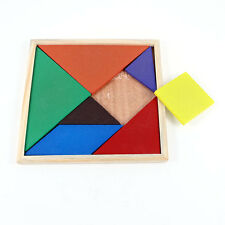 Children Kids Educational Tangram Shape Wooden Puzzle Toy -Geometry Intelligence