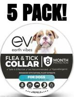 Earth Vibes Flea and Tick Collar For Dogs 5-Pack