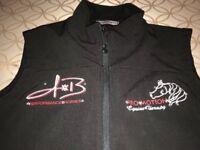 womens Port Authority black microfleece vest full zip Sz Small Equestrian Horse