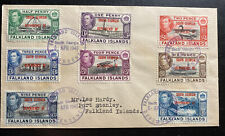 1945 Falkland Island First Day Cover FDC South Georgia Dependency Overprints