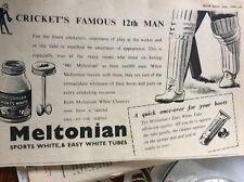 b1M ephemera 1959 advert meltonian cricket's 12th man