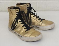 Supra Sky Top Gold Metallic High-Top Gold Sneakers US Kids 5 EU 37.5 GREAT LOOK