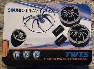 "New Pair Soundstream TWT.5 220 Watt 1"" Car Tweeters Car Audio 4 Ohm PEI Dome Kit"