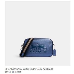 NWT 100% Authentic Coach Jes Leather Double Zip Crossbody Bag F75818 C2245 $328