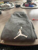 Nike Air Jordan Boys Youth Jumpman Fleece Pant 10-12 Carbon Heather