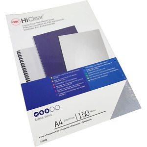 GBC HiClear PVC Plastic A4 PPE Face-Shield Sheets / Binding Covers - 1000 Sheets