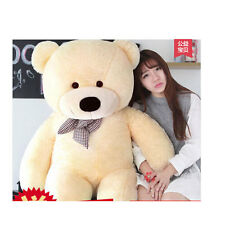 "56"" Giant Huge Stuffed Plush Beige Teddy Bear Big Soft Doll Toys Xmas Gift 140cm"