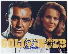 SEAN CONNERY & HONOR BLACKMAN SIGNED JAMES BOND  8x10 GOLDFINGER PHOTO - UACC RD
