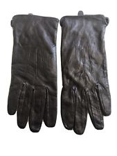 George Brown Leather Gloves. Size Large