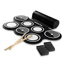 Electronic Drum Kit - Compact Drumming Machine, MIDI Computer Support W/ Speaker