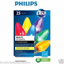 New ! 25ct Philips LED C9 Lights Multi-color Indoor Outdoor 24FT Length