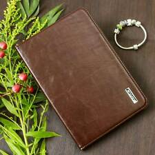 Luxury Cuero Funda protectora para Apple iPad mini 4 Tablet bolso cover case marrón