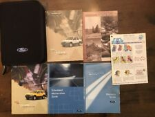 2002 Ford Escape Owner Owners Manual Complete Set