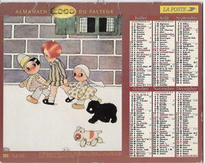 Almanach 2000 Calendrier de la poste PTT - HAUTE-SAONE 70  & Ter. de BELFORT 90