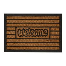 Coir And Rubber Doormat Geometric Design Anti Slip For Home Office Brand New