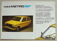 AUSTIN MINI METRO Car Poster Sales Brochure 1980s Multi Lingual