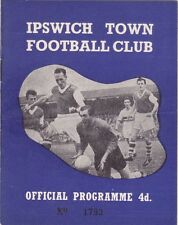 IPSWICH TOWN  V BARNSLEY LEAGUE CUP  11/10/60