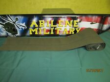 "Military OD Green Canvas Material 17ft long 2 ½"" wide with a sleeve that is 4"" w"