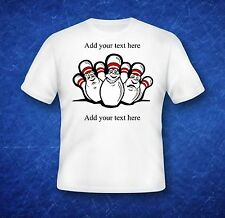 Custom T-Shirt Bowling team (add your own text to this design)