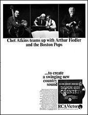 1966 Arthur Fiedler & Chet Atkins Pops Music Album release vintage print ad L22