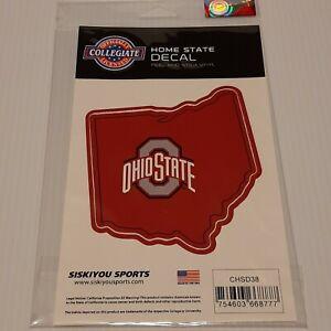 OHIO STATE BUCKEYES NCAA Home State Auto Sticker Window Vinyl Decal