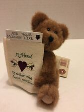"Boyds Plush Bear Jodie Head Bean Collection 6"" Message for A Friend Retired"