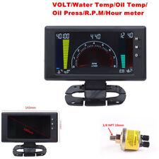 Cool 6in1 Auto Meter LED Oil Pressure Gauge Multifunctional LCD Digital Car Part