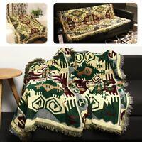 90x240cm Bohemian Cotton Sofa Bed Throw Blanket Bedspread Chair Settee Cover b