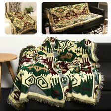 90x240cm Bohemian Cotton Sofa Bed Throw Blanket Bedspread Chair Settee   US1