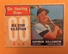 1968 Topps Card # 361 Harmon Killebrew Twins All Star Hof Mint Sharp