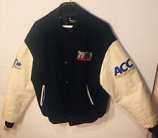 Vintage Leather Sleeve Letterman Jacket Embroidered SportSouth Size Large