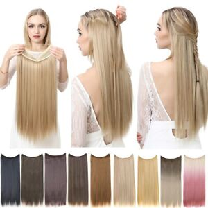Straight Hair Extension Ombre Synthetic Artificial Natural Fake False Long Short