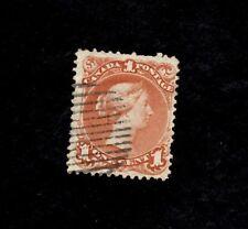 CANADA, Scott# 22, 1c Victoria, 1852-7 Used F-VF Brown-Red