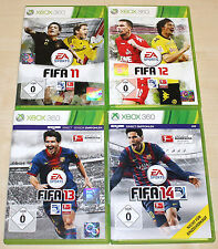 4 Xbox 360 jeux collection FIFA 11 12 13 14-Football Soccer Football (15 16)