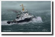 Der Schlepper Weser by Mark Karvon - Tugboat - Marine Art - Decor