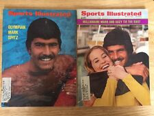 MARK SPITZ On Cover Lot Of 2 Vintage Sports Illustrated 1972 & 1973 Swimming