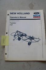 New Holland 157 Hay Tedder Operators Manual