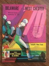 WEST CHESTER @ DELAWARE STATE COLLEGE FOOTBALL PROGRAM 1970 EX