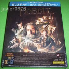EL HOBBIT LA DESOLACION DE SMAUG BLU-RAY + DVD PACK NUEVO Y PRECINTADO